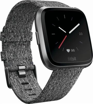 BRAND NEW Fitbit Versa Special Edition *Charcoal* Large and Small Bands FB505BKG