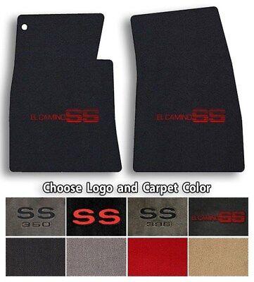 Chevrolet El Camino SS 2pc Classic Loop Carpet Floor Mats - Choose Color & Logo ()