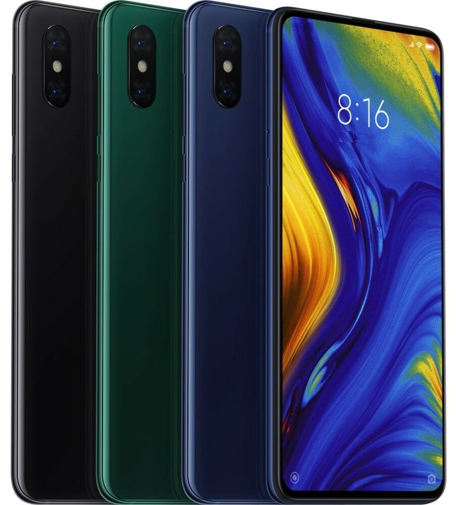 "Android Phone - Xiaomi Mi Mix 3 128GB (FACTORY UNLOCKED) 6.39"" 6GB RAM Black Blue Green (Global)"