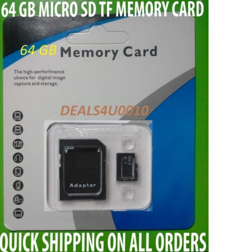 64 GB Memory Card FOR SAMSUNG GALAXY S5,S5 ,NOTE 3,4,5,7 AND