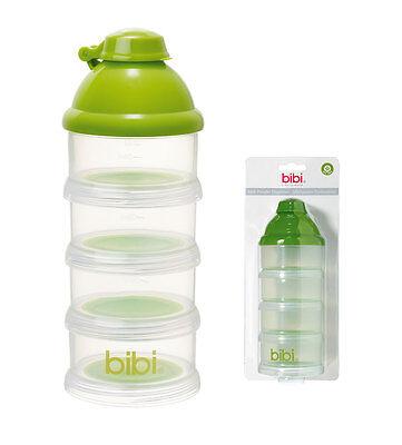 Milchpulver Portionierer bibi  4 Kammern  Pumpeinfüllvorrichtung  BPA-frei Baby