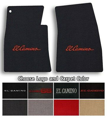 Chevrolet El Camino 2pc Classic Loop Carpet Floor Mats - Choose Color & Logo Chevrolet El Camino Carpet