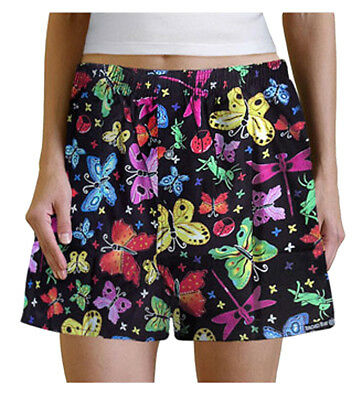 Her Boxer Shorts - CUTE BUTTERFLIES Boxers BOXER SHORTS SLEEP Pants Lg HER Ladies Teens