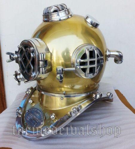 U.S Navy Mark V Vintage old Diving Divers Helmet Scuba Decorative Replica Sea