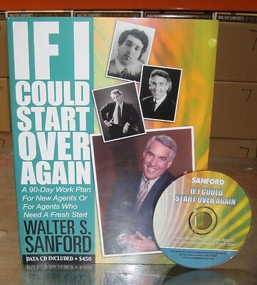 Walter Sanford Real Estate Books+CDs IF I COULD START OVER best