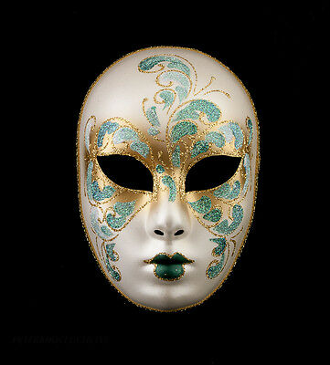 Mask from Venice Volto Black and Golden for Fancy Dress Evening Ballgown Party