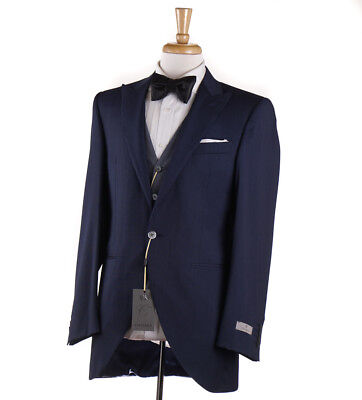 NWT $2495 CANALI 1934 Slim-Fit Blue Striped Three Piece Tuxedo 38 R Suit for sale  Milwaukee