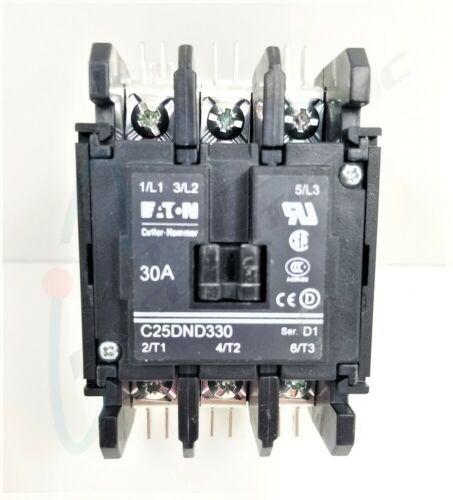 Eaton Cutler Hammer Contactor C25DND330 30 Amp 3 Pole 208/240V Breaker