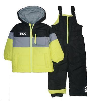 Skechers Boys Yellow & Black 2pc Snowsuit Size 2T 3T 4T 4 5/