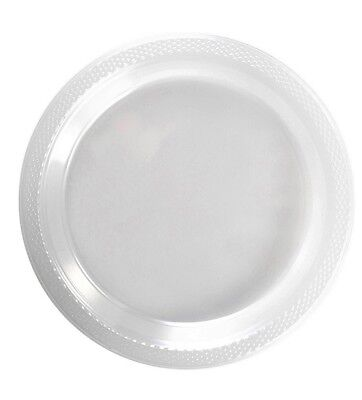 "Clear Plastic Disposable Plates -Luncheon Dinner Party Premium Plate 7"" 9"" 10"""