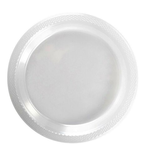"""Bulk Pack Plastic Clear 7"""" and 9"""" Plates Wedding Party Dinnerware- FREE SHIPPING"""