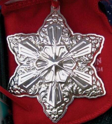 SALE • RARE • NEW• Reed & Barton 2004 Francis 1 SNOWFLAKE Sterling Christmas Orn
