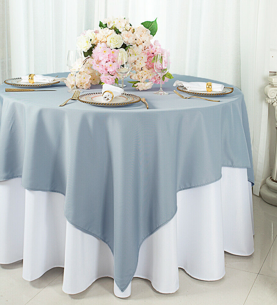 """Wedding Linens Inc. 54"""" x 54"""" Square Polyester Tablecloth Ta"""