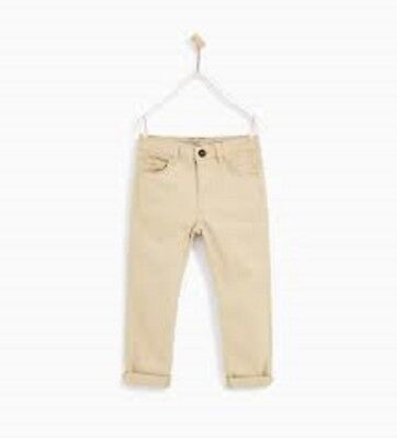 ZARA BOY BEIGE BROWN BASIC TROUSERS SIZE 9 - 10 YEARS OLD