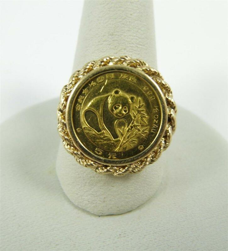silver coin ring gold coin ring