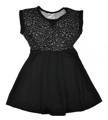 Hello Gorgeous Little/Big Girls Black & Gray Dress Dress Size 4 5/6 6X 7 8/10