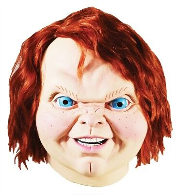 Chucky Mask Child's Play 2 Evil Horror Movie Halloween Trick or Treat Studios - Halloween 2 Mask Trick Or Treat