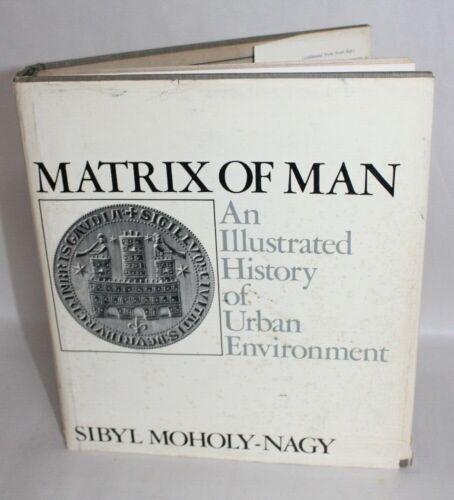Vtg 1968 Architecture Book MATRIX OF MAN ILLUSTRATED HISTORY URBAN ENVIRONMENT