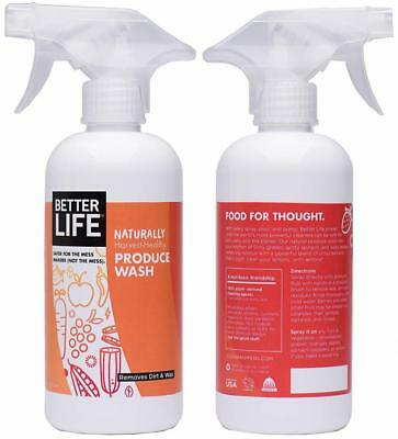Better Life Natural Fruit and Vegetable Wash, 16 Ounces, 24143