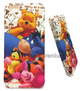 Eeyore & Winnie the POOH Back SOFT Cover Case For iPhone 5 + Screen Guard