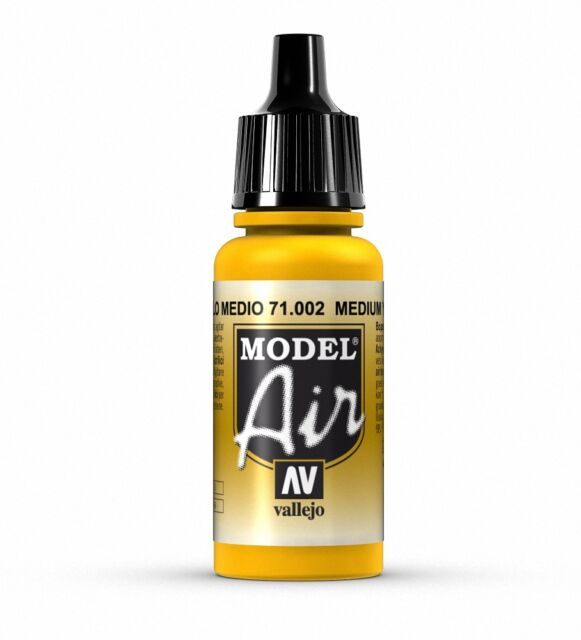 VALLEJO AIRBRUSH PAINT - MODEL AIR - MEDIUM YELLOW 17ML - 71.002