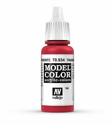 Vallejo Acrylic Transparent Red Paint Model Color 17ml VAL (Red Model)