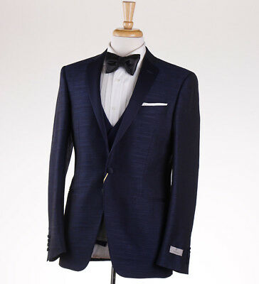 NWT $2895 CANALI 1934 Slim-Fit Blue Wool-Silk Three Piece Tuxedo 36 R Suit for sale  Milwaukee