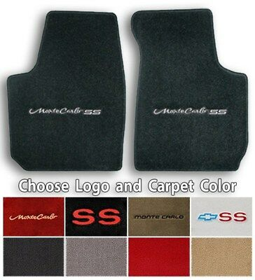 Chevrolet Monte Carlo 2pc Classic Loop Carpet Floor Mats - Choose Color & Logo Chevrolet Monte Carlo Carpet
