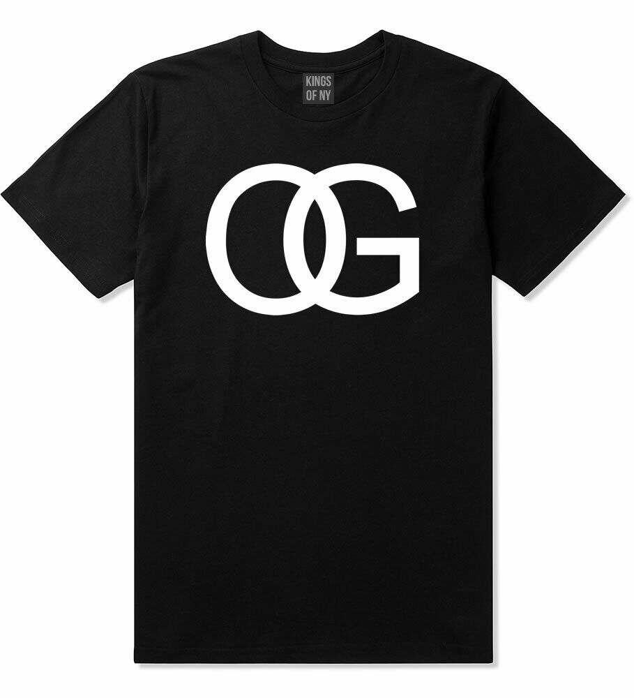 Kings Of NY OG Original Gangsta Gangster Printed T-Shirt Black White Grey NYC