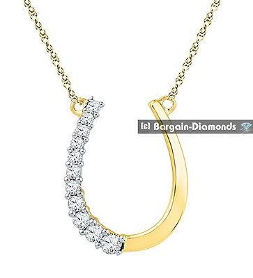 Hope Diamond Necklace - lucky horseshoe diamond .20 carats necklace 10K gold luck hope success fame