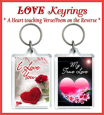 Love Keyrings Personalised Gift Valentine Him Her  Boy Friend Girl Husband Wife