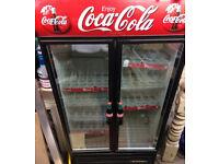 DOUBLE DOOR, COCA COLA DRINKS DISPLAY FRIDGE/CHILLER FOR SHOP CAFE ETC