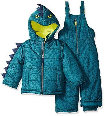 Carter's Boys Two-Piece Dinosaur Snowsuit Size 2T 3T 4T 4 5/