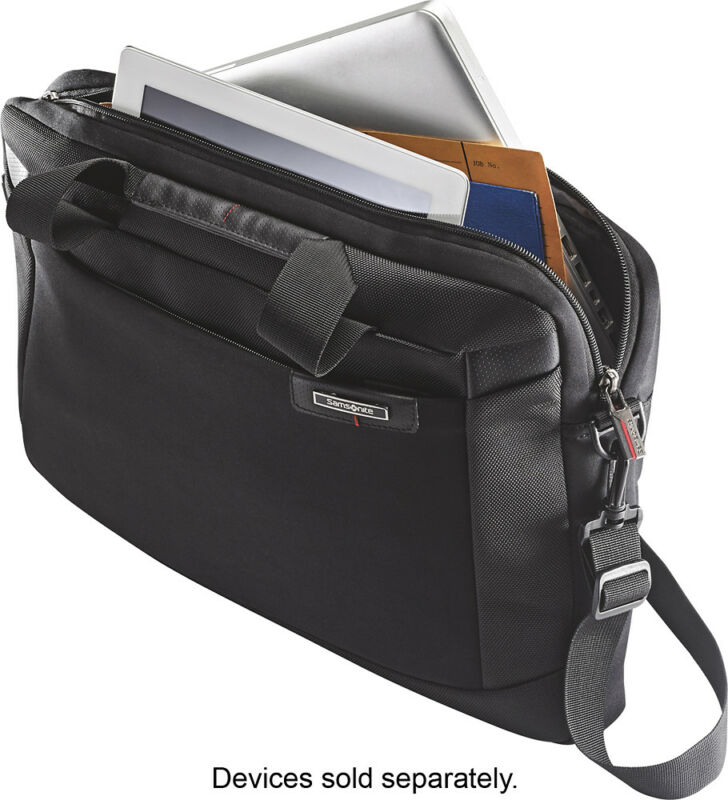 Samsonite Laser Pro Slim Briefcase Black 67646-1041