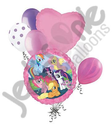7pc My Little Pony Group Balloon Bouquet Happy Birthday Party Decoration Rainbow