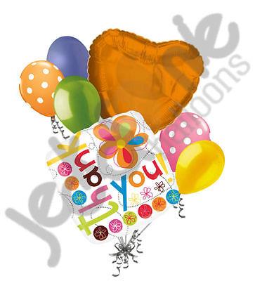7 pc Thank you Colorful Flowers Balloon Bouquet Decoration Retirement Teacher - Thank You Balloon
