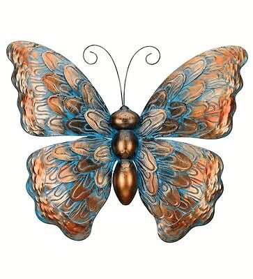 (Copper Patina Butterfly Wall Art Decor Metal Hanging Indoor Outdoor Decor 19