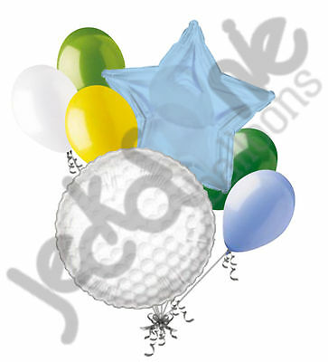 7 pc Golf Ball Balloon Bouquet Party Decoration Happy Birthday Father Baby - Golf Balloons