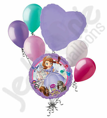 7 pc Sofia the First Disney Princess Balloon Bouquet Party Decoration Birthday - Sofia Balloons