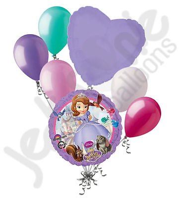 7 pc Sofia the First Disney Princess Balloon Bouquet Party Decoration Birthday - Sofia The First Birthday Party Decorations