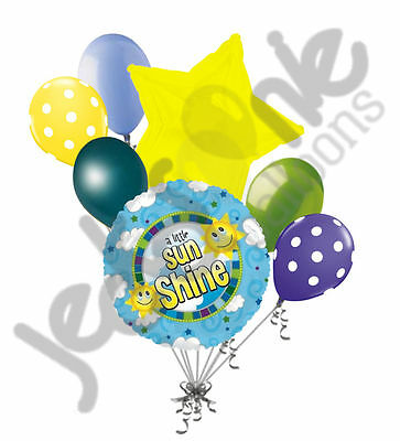 7 pc A Little Sunshine Balloon Bouquet Decoration Party BBQ Birthday Get Well
