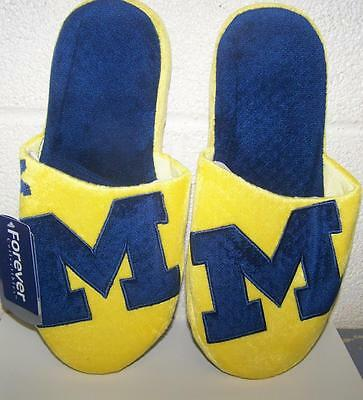 Michigan Wolverines NCAA Big Logo Slide On Mens (Michigan Wolverines Slippers)