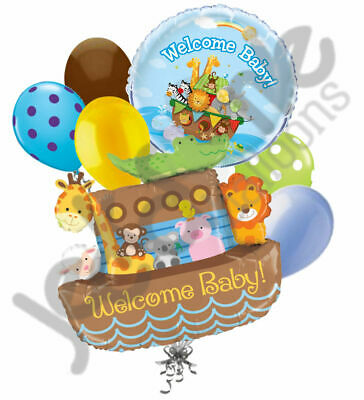 Welcome Home Baby Shower (7 pc Welcome Baby Noah's Ark Balloon Decor Party Baby Shower Home Boy)