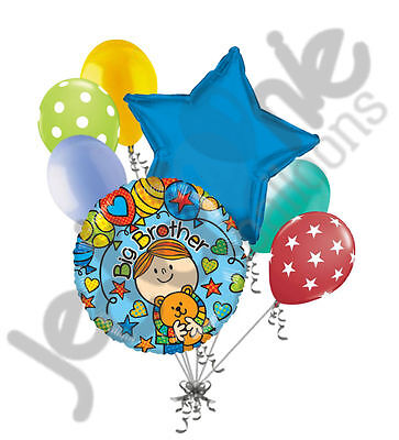 7 pc Big Brother Balloon Bouquet Welcome Home Baby Shower Boy Congratulations (Congratulations Balloons)