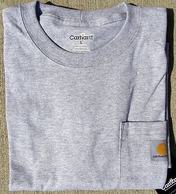 Carhartt Mens  Pocket T Shirt   Heather Gray   M