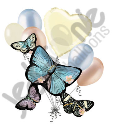 7 pc Pastel Botanical Butterfly Balloon Bouquet Party Decoration Wedding Baby](Butterfly Balloon)