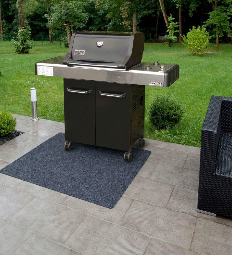 BBQ-Matte Grillteppich Bodenschutzmatte Matte Teppich Unterlage Garten Terrasse