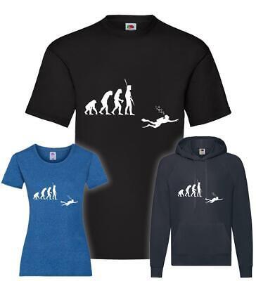 Evolution Taucher mit Flasche T-Shirt / Pullover / Hoodie