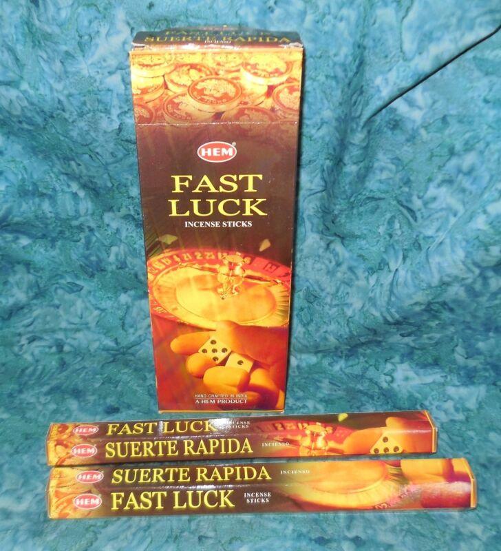 Fast Luck Incense 40 Sticks NEW Sealed HEM Brand Attract Good Fortune Prosperity
