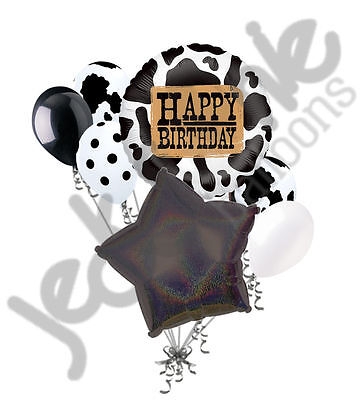 nt Themed Balloon Bouquet Happy Birthday Cowboy Holstein (Happy Birthday Cowboy)